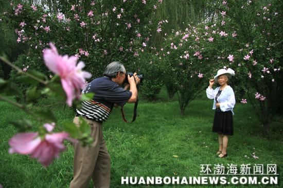 周源森 唐山/老年摄影爱好者最爱唐山南湖 记者周源森摄