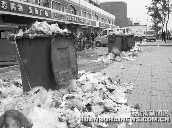 大学道北侧大学生公寓村旁垃圾外溢(图)图片