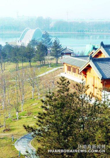 南湖公园湖心岛冬拍