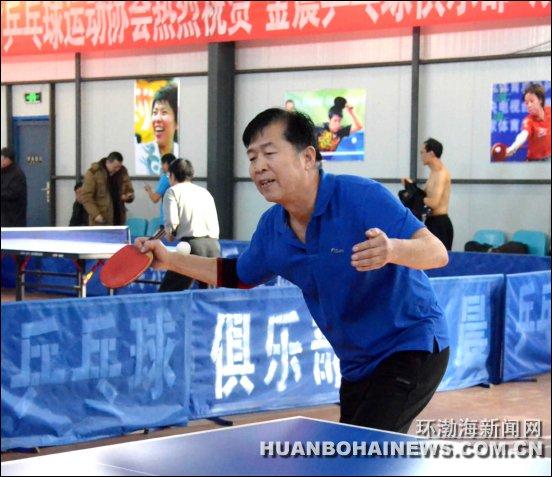 ...乒乓球联谊赛在金晨乒乓球俱乐部举行.   此次比赛由唐山老...