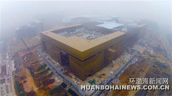 航拍正在施工的唐山世园会场馆(图)_综合新闻_唐山环渤海新闻网