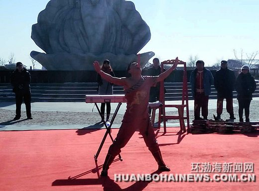 唐山湾国际旅游岛新春民俗文化庙会开幕(组图)