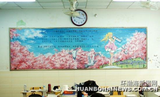 唐山:00后女生手绘创意黑板报惊艳师生(图)_本网原创
