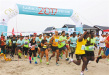 唐山国际旅游岛半程马拉松举行(图)
