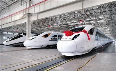"""""""唐山造""""新型 CRH3A动车组下线"""