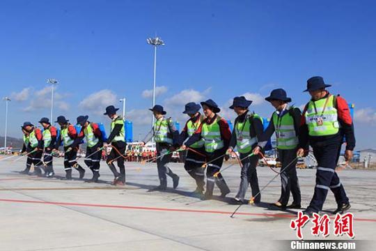 昆明机场举行大面积航班延误处置综合演练