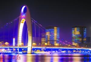 珠江两岸景观升级 打造广州夜景新地标
