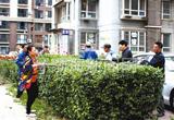 唐山:路南惠民园物业利用公休日梳理小区花草受称赞