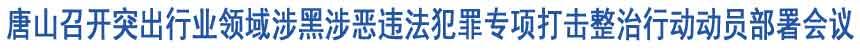 唐山召开突出行业领域涉黑涉恶专项打击行动部署会议