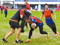 国家女子橄榄球队迁安备战亚运会(组图)