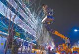 唐山:汉沽五彩灯光映城区(图)