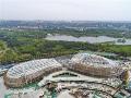 唐山新体育中心加紧建设(图)