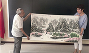 91岁退役老兵创作国画表达爱国之情(图)