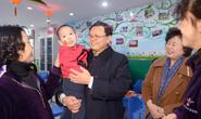 张古江赴市截瘫疗养院和儿童福利院慰问