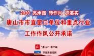 【专题】唐山市直窗口单位和重点行业工作作风公开承诺