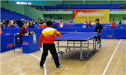 唐山市第九届运动会乒乓球青少年组和社会组比赛开赛