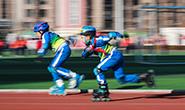 唐山:校园轮滑体育课冬练忙
